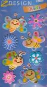 Naklejki 3D Z Design Kids Motylki kwiatuszki
