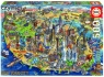 Puzzle 500: Mapa New York (18453) od 11 lat