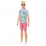 Barbie Fashionistas: Lalka stylowy Ken - owocowa koszula/blond włosy