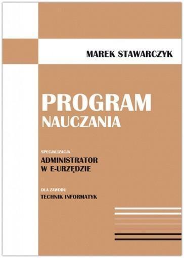 Program nauczania Stawarczyk Marek