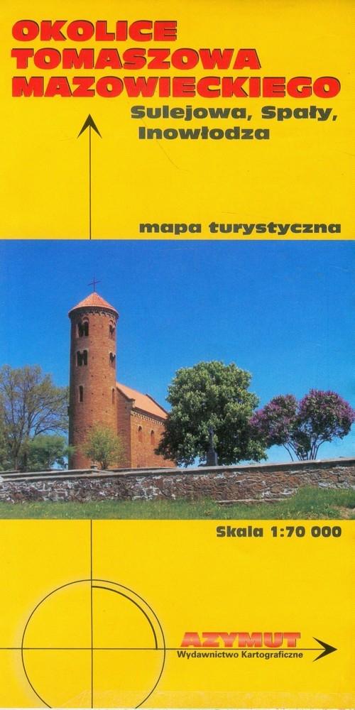 Okolice Tomaszowa Mazowieckiego, Sulejowa, Spały, Inowłodza mapa turystyczna