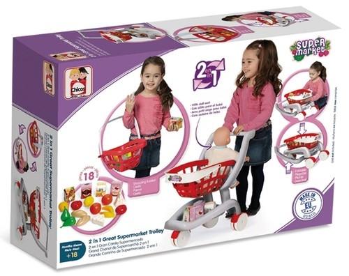 Wózek marketowy 2w1