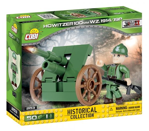 Cobi: Mała Armia WWII. Howitzer 100 mm Wz.1914/19 P - haubica polowa (2153)