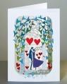 Karnet PM253 wycinany + koperta Ślub Para Młoda
