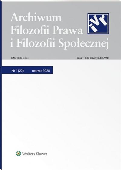 Archiwum Filozofii Prawa i Filozofii.. 1/2020 (22) praca zbiorowa