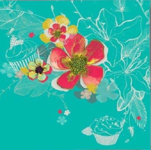 Karnet Swarovski kwadrat Kwiaty morski