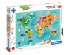 Puzzle Supercolor 180 The map of animals (29753)