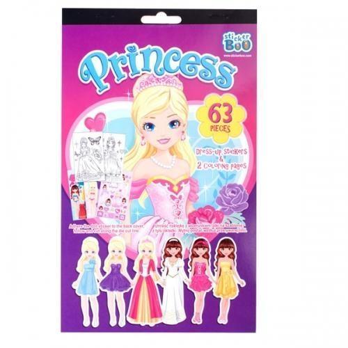 Naklejki Dress-up z malowanką księżniczki