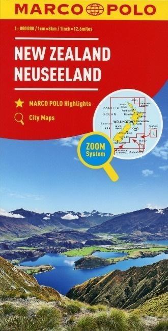 Mapa Marco Polo - Nowa Zelandia 1: 800 000 praca zbiorowa