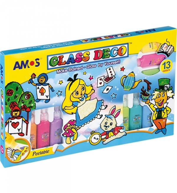 Farby witrażowe Amos, 13 kolorów x 22ml