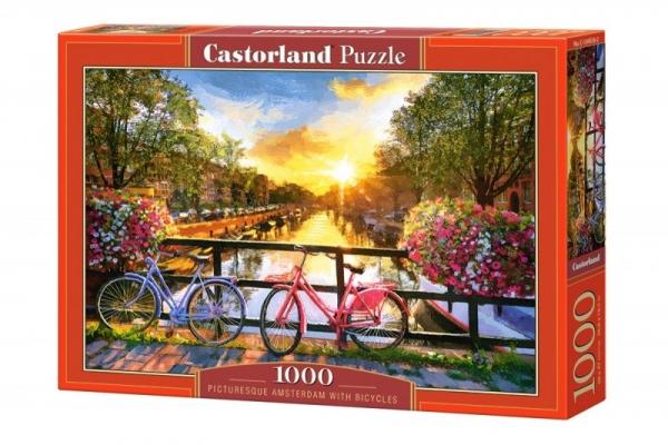Puzzle 1000: Malowniczy Amsterdam z rowerami (104536)