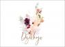 Kartka - Dziekuję - kwiaty
