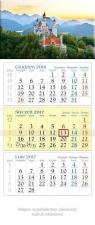 Kalendarz trójdzielny 2017 Zamek