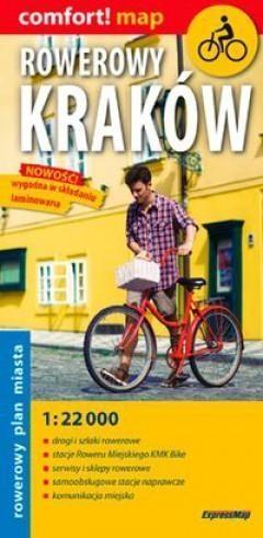 Rowerowy Kraków laminowany rowerowy plan miasta praca zbiorowa