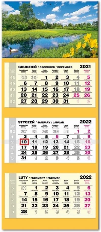 Kalendarz 2022 trójdzielny lux Kaczeńce