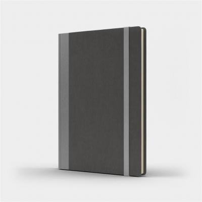 Notatnik A5 Pro M+ gładki szary/srebny