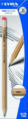 Ołówek Lyra pro natura hb z gumką 1350100 Fila Polska