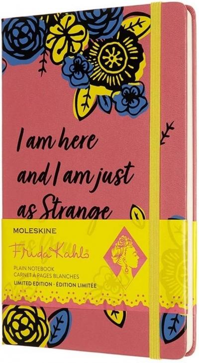 Notes Frida Kahlo 13x21 gładki EL różowy MOLESKINE