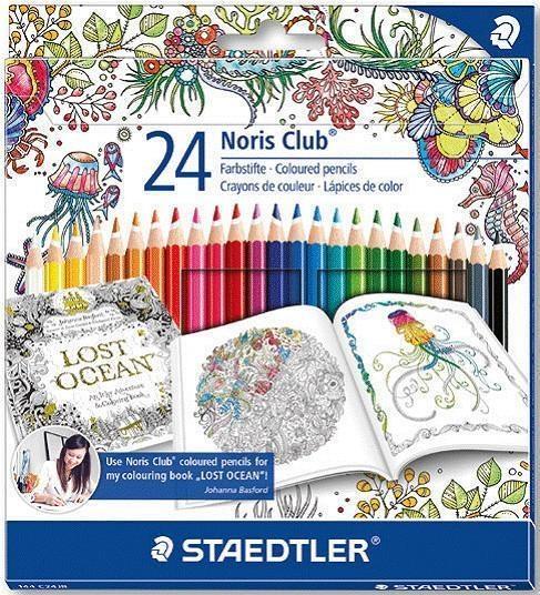 Kredki szkolne Noris Club 24 kolory J. Basford (S 157 M24JB)