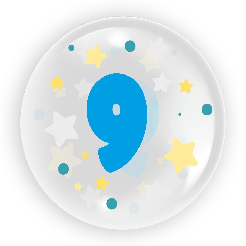 """Balon 45 cm - """"Cyfra 9"""" niebieski (TB 3609)"""