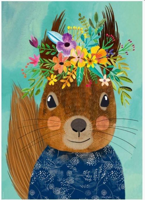 Puzzle 1000 elementów Floral Friends, Wiewiórka, Mia Charro (29953)