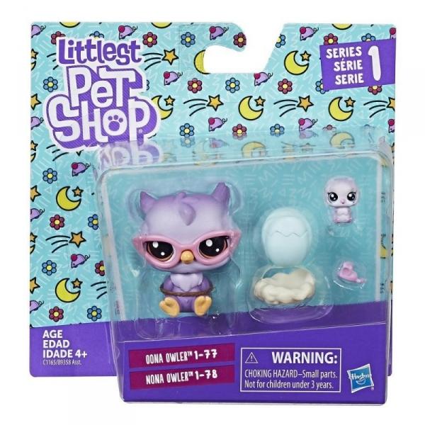 Littlest Pet Shop Para zwierzaków, Sowy (B9358/C1165)