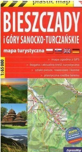 Plastic map Biesz.i Góry Sanocko-Turcz.1:65 000 praca zbiorwa