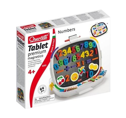 Tablica magnetyczna dwustronna premium Cyfry kształty 64 elementy