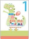 Karnet B6 z kopertą Urodziny 1 chłopiec