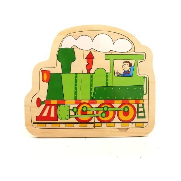 Drewniana Układanka Pociąg