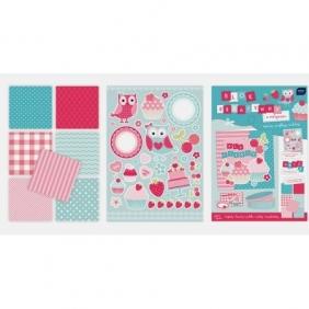 Blok kreatywny A4 z naklejkami Pastel (314604)