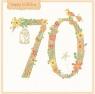 Karnet kwadrat z kopertą Urodziny 70