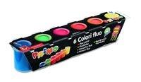Farby Primo Fluo 6 kolorów w plastikowych pojemniczkach