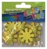 Aplikacje dekoracyjne drewniane słoneczka 8 sztuk