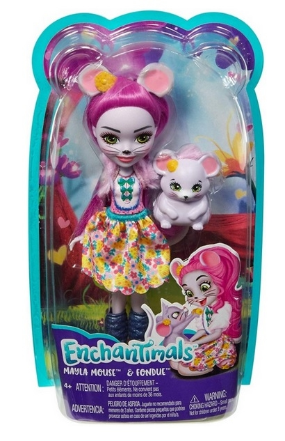 Enchantimals: lalka Mayla Mouse + Fondue (FNH22/FXM76)