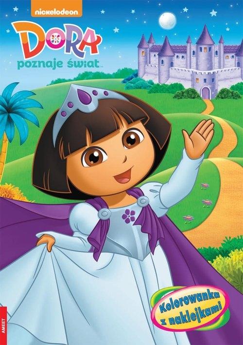 Dora poznaje świat Kolorowanka z naklejkami