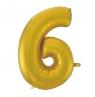 Balon foliowy Godan złoty matowy cyfra 6 45 cali 45cal (hs-c45zm6)