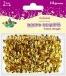 Dodatek dekoracyjny Titanum cekiny złote 14g 260076