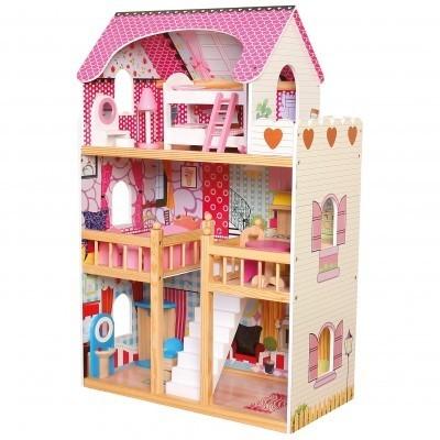 Duży Domek Drewniany dla lalek z meblami (83554)