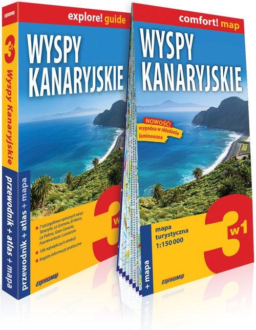 Wyspy Kanaryjskie 3w1: przewodnik + atlas + mapa Waszczuk Agnieszka