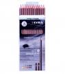 Ołówki grafitowe Lyra graduate 12 szt. 1171120 (6B, 5B, 4B, 3B, 2B, B, HB, F, H, 2H, 3H, 4H)