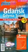 Gdańsk Gdynia Sopot Plastik mapa 1:26000