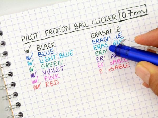 Automatyczne wymazywalne pióro kulkowe Pilot FriXion Ball Clicker - jasnoniebieskie (BLRT-FR7-LB)