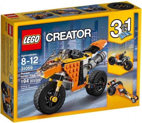 Lego Creator: Motocykl z Bulwaru Zachodzącego Słońca (31059)