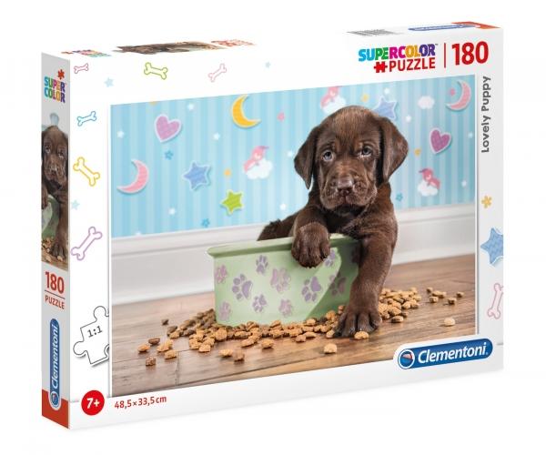 Clementoni, puzzle SuperColor 180: Lovely Puppy (29754)