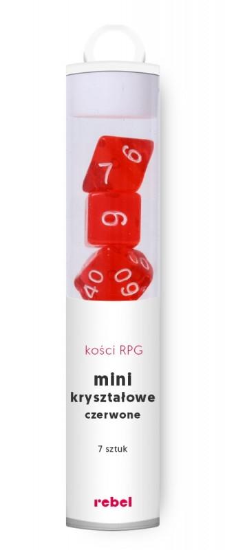 Komplet kości Mini Kryształowe Czerwone (14543)