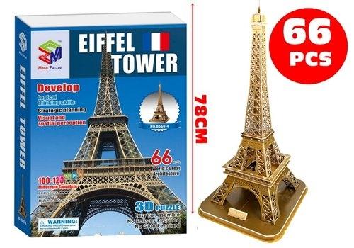 Puzzle 3D Duża Wieża Eiffla 66 elementów