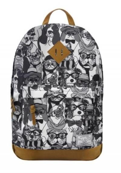 Plecak Psy czarno - biały