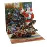 Kartki 3D - Tree Trimming Santa (975)
