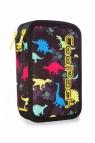 Coolpack - Jumper 3 - Piórnik potrójny z wyposażeniem - Led Dinosaurs